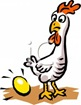 A_Colorful_Cartoon_Chicken_Laying_a_Golden_Egg_Royalty_Free_Clipart_Picture_100705-004451-507053