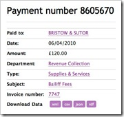 Lichfield District Council Spending Data - Details of payment number 8605670