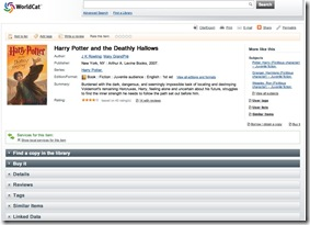 Harry Potter and the Deathly Hallows (Book, 2007) [WorldCat.org]